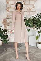 Платье-рубашка Консетта бежевое, фото 1