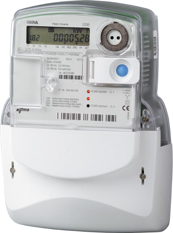 Счетчик электроэнергии МТ382 D1-P1 5-85А трехфазный многотарифный с GSM модемом