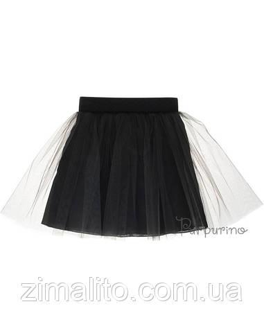 Юбка евросетка, цвет черный для девочки