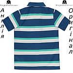 Поло Lonsdale из Англии для мальчиков 2-14 лет - синее полосатое, фото 2