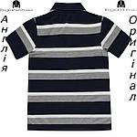 Поло Lonsdale из Англии для мальчиков 2-14 лет - темносине-серое полосатое, фото 2