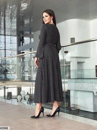 Женское элегантное длинное платье демисезонное размеры:48,50,52,54,56, фото 2