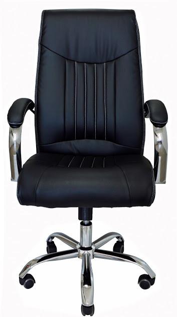 Комп'ютерне крісло Richman Франкфурт-Ю чорне на коліщатках Хром