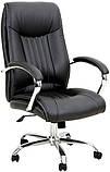 Комп'ютерне крісло Richman Франкфурт-Ю чорне на коліщатках Хром, фото 3
