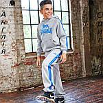 Брюки Lonsdale из Англии для мальчиков 2-14 лет - для бега серые, фото 3