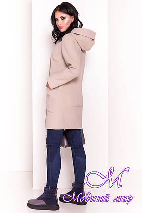 """Женское бежевое полуприталенное пальто (р. S, M, L) арт. """"Анита 4414"""" - 21326, фото 2"""
