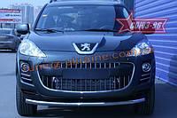 Защита переднего бампера d 60 одинарная Союз 96 на Peugeot 4007 2007