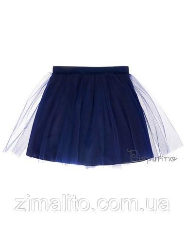 Юбка евросетка, цвет темно синий для девочки