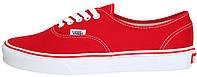 Женские кеды Vans Authentic Red/White (Ванс) в стиле красные