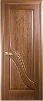 Двери межкомнатные Амата Глухое с гравировкой золотая ольха