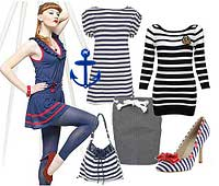 Одежда в  морском стиле.