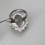 Рутиловый кварц кольцо с натуральным кварцем-волосатиком в серебре 18-18,5 размер Индия, фото 5