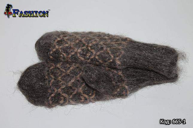 Оригінальні зимові рукавиці Шоколад, фото 2