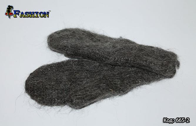 Варежки шерстяные Классик, фото 2