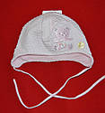 """Нарядная шапка для девочки """"Атласный мишка"""" розовая (Marika, Польша), фото 2"""