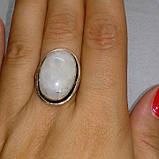 Лунный камень кольцо с натуральным лунным камнем в серебре 18.0-18.5 размер Индия, фото 2