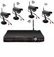 Комплект Видеонаблюдения на 4 Камеры DVR KIT CAD 8004 WiFi 4ch Видеорегистратор PTZ IP 4-Канальный