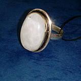 Лунный камень кольцо с натуральным лунным камнем в серебре 18.0-18.5 размер Индия, фото 4