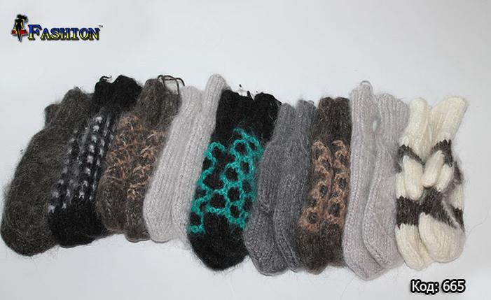 Вовняні рукавиці Темна Класика, фото 2