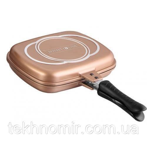 Сковорода гриль двусторонняя Royalty Line RL-DF32M Copper 32 cm