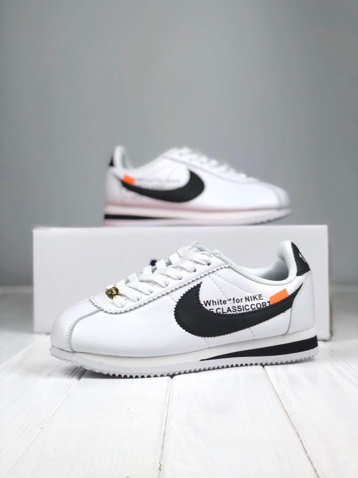 5d404e89bed Женские кроссовки Nike Cortez x Off White Реплика ААА+: продажа ...