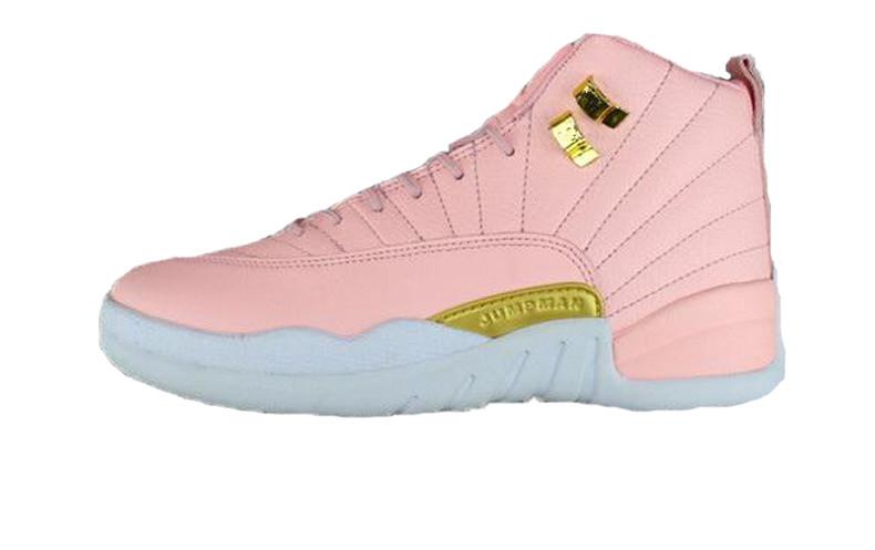 3e289754 Баскетбольные Кроссовки Nike Air Jordan 12 Retro Pink/Gold/White — в ...