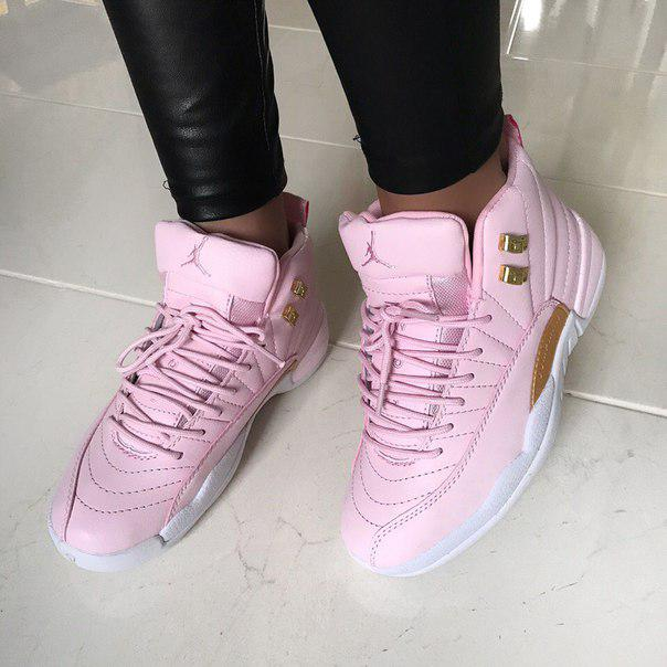 new product b5ba1 032e3 Баскетбольные кроссовки Nike Air Jordan 12 Retro Pink/Gold/White - Bigl.ua
