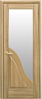 Двери Амата со стеклом сатин Золотой дуб