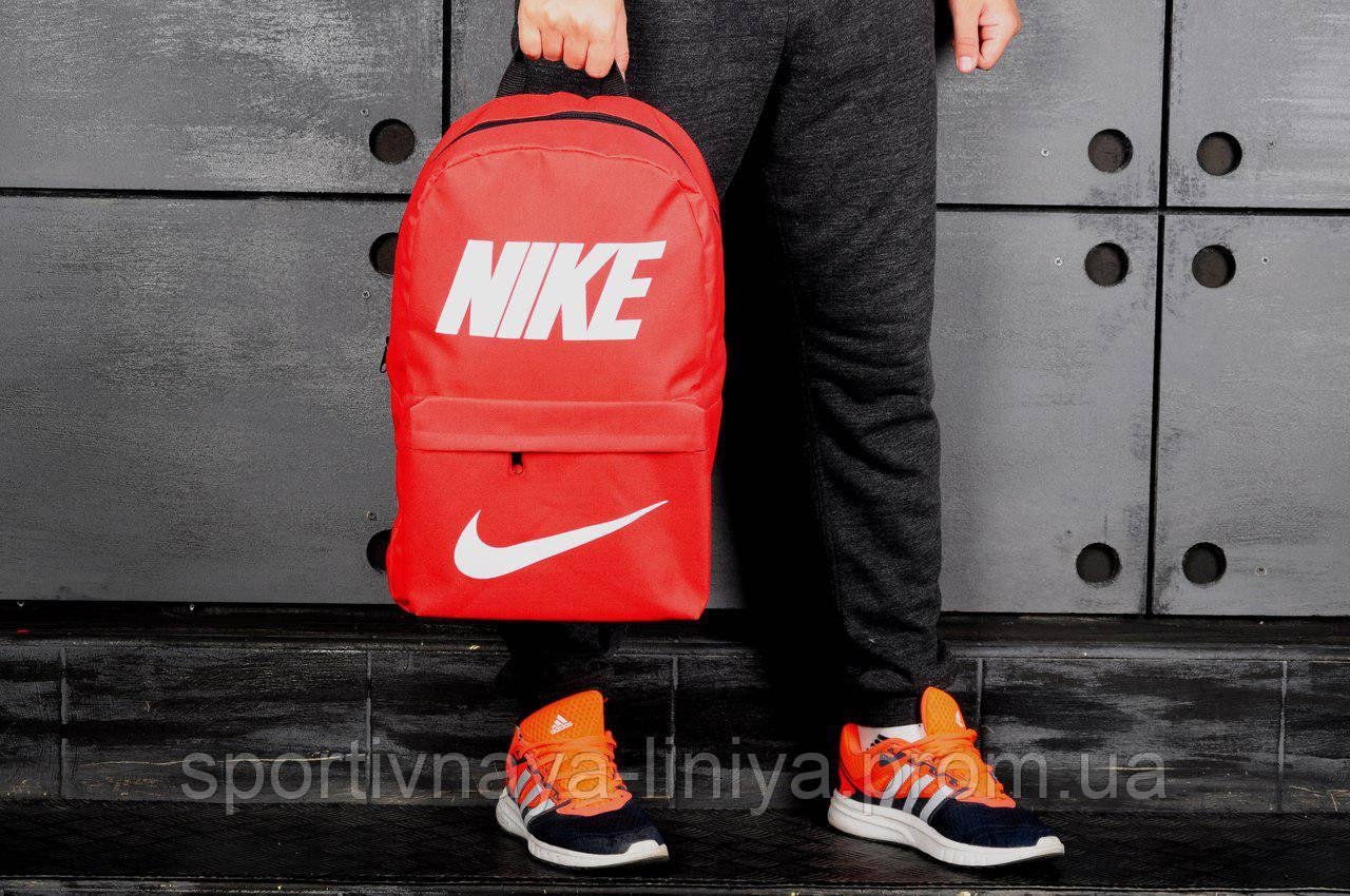 Спортивный красный рюкзак Nike сетка (реплика)