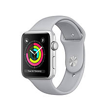 Apple Watch Series 3 38mm GPS Silver Aluminum Case with Gray Sport Band (MQKU2)