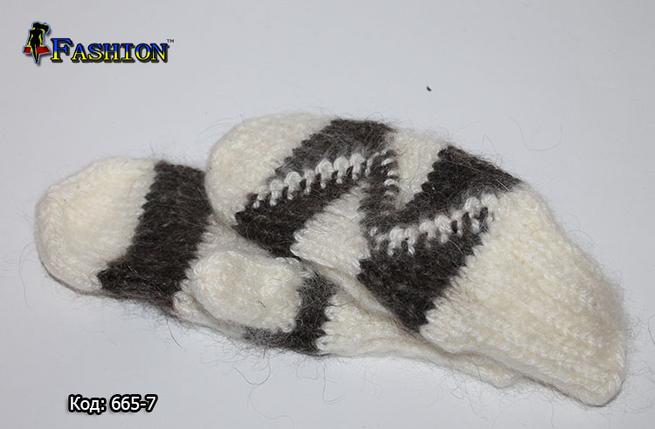 Стильні рукавиці зимові Зигзаг, фото 2