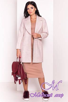 Женское бежевое демисезонное пальто (р. S, M, L) арт. Вива 4558 - 21904, фото 2