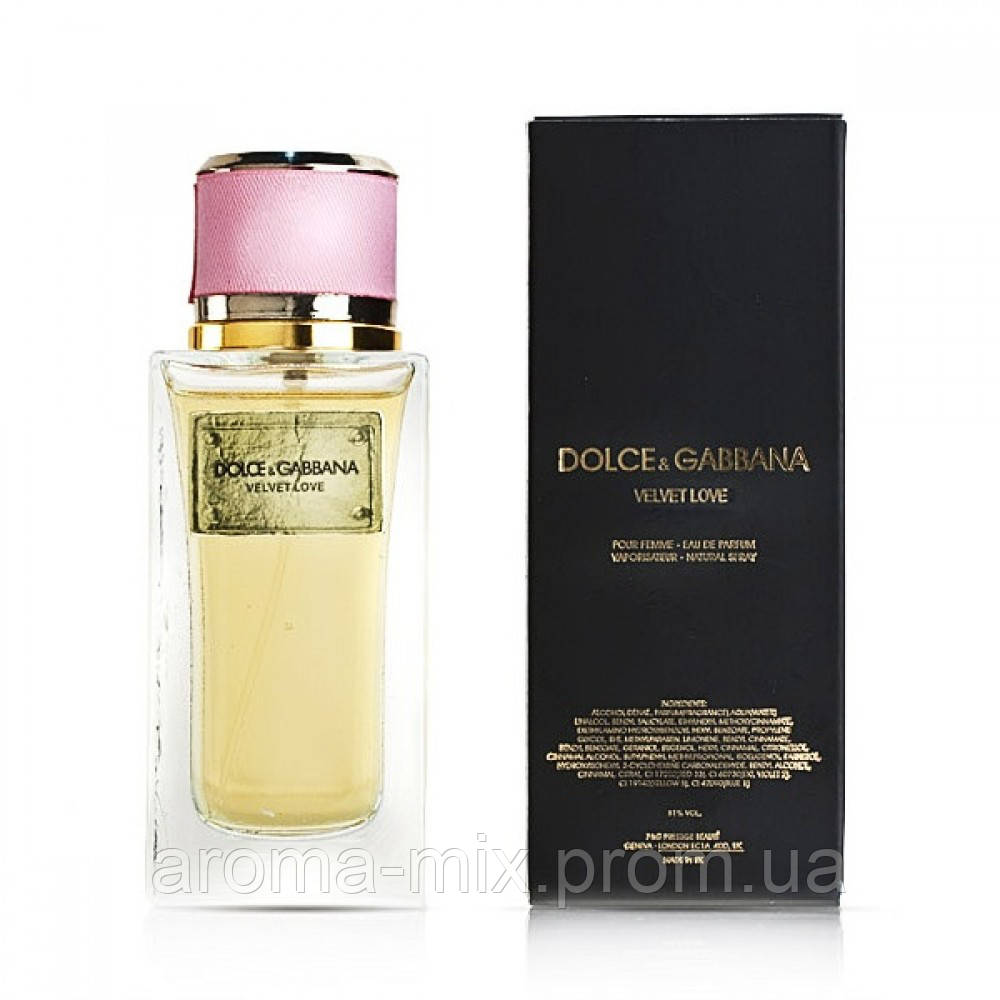 Dolce&Gabbana Velvet Love - женская туалетная вода