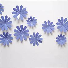Набір фіолетових квіток - 12шт.