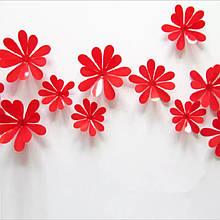 Квіточки на скотчі червоні - 12шт.