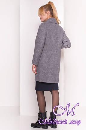 Женское темно-серое демисезонное пальто (р. S, M, L) арт. Вива 4558 - 36639, фото 2
