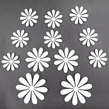 Набір білих квіток - 12шт.