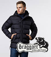 Зимняя куртка на молнии мужская Braggart 20180 черная, фото 1