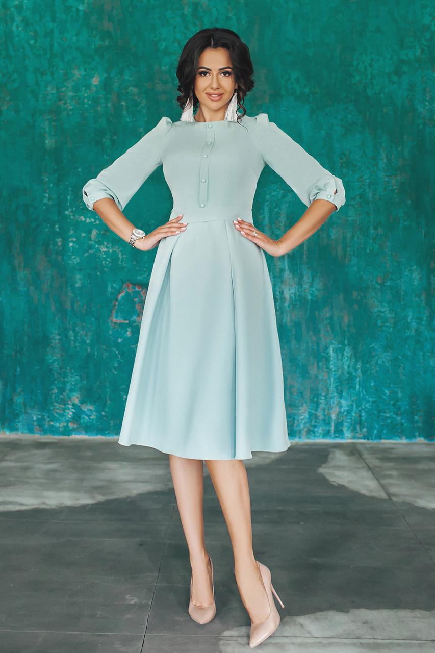 Платье классическое Алита в мятном цвете
