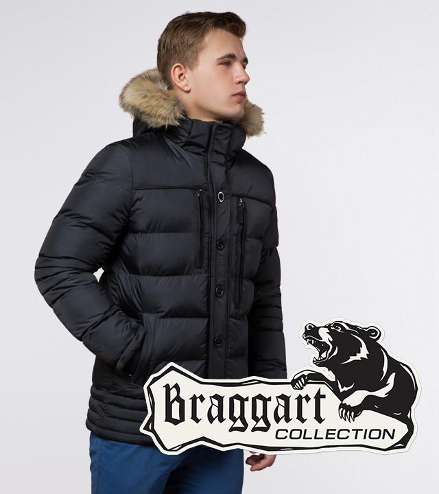 Мужская куртка с опушкой Braggart 45610 графит