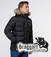 Мужская куртка с опушкой Braggart 45610 графит, фото 1