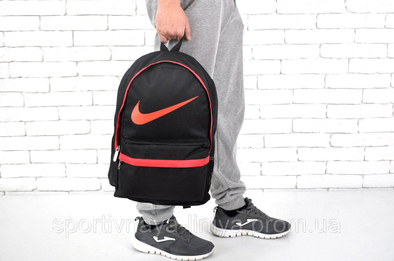 Спортивный черный рюкзак Nike (реплика)