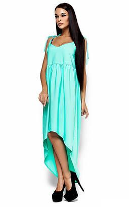 (S, M) Довге вільне ментолове плаття Roshel