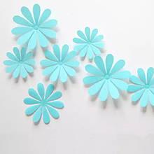 Бірюзові квіточки на меблі, стіну - 12шт.