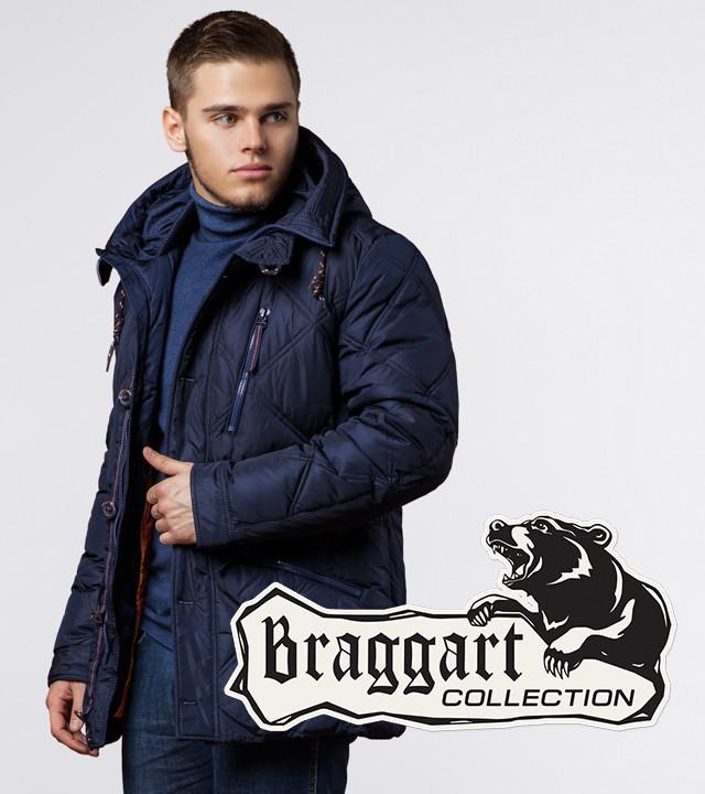 Куртка на зиму мужская Braggart 12481 темно-синяя