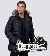 Зимняя куртка с опушкой Braggart 15335 темно-синий, фото 1
