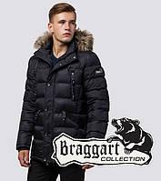 Зимняя мужская куртка с опушкой Braggart 15335 черный, фото 1