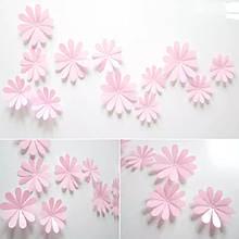 Набір рожевих квіточок - 12шт.