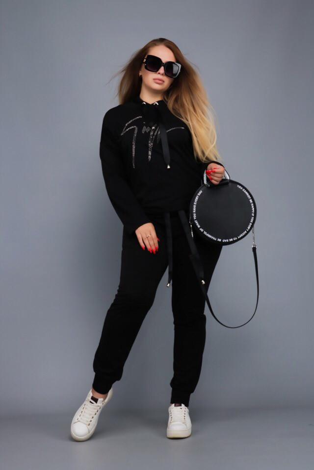 Женский спортивный костюм с камнями Zanotti размеры42-56
