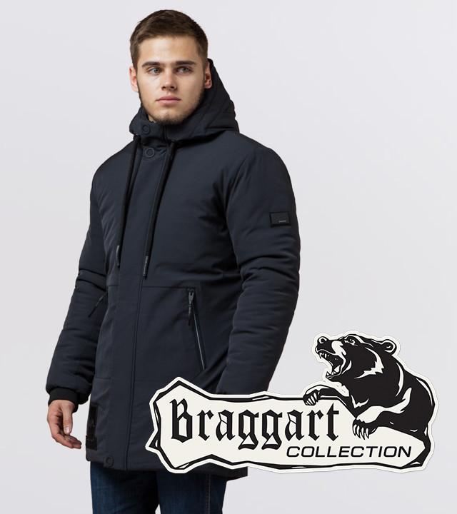 Braggart 'Black Diamond'. Мужская куртка на зиму 9085 графит
